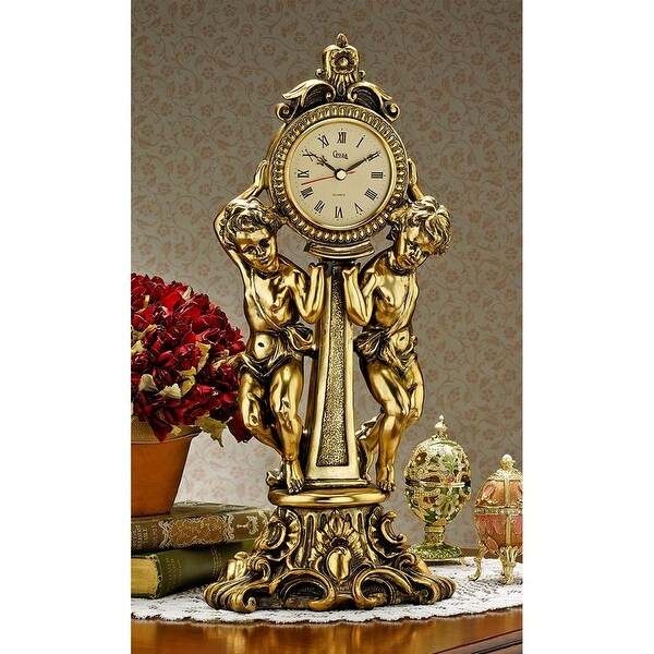 Design Toscano Amboise Twin Cherubs Mantel Clock. Opens flyout.