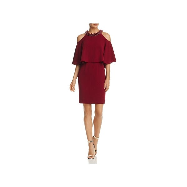 02642c17 Shop Adrianna Papell Womens Special Occasion Dress Cold Shoulder ...