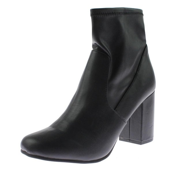 Seven Dials Womens Teressa Ankle Boots Faux Leather Round Toe - 9 medium (b,m)