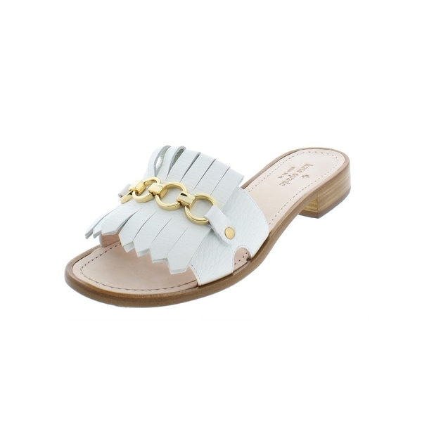 5d4fcaba1920 Kate Spade Womens Brie Evening Sandals Leather Fringe - 8.5 Medium (B
