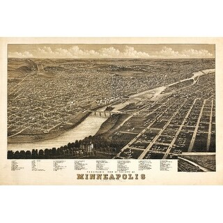Minneapolis, Minnesota - (1879) - Panoramic Map (Playing Card Deck - 52 Card Poker Size with Jokers)