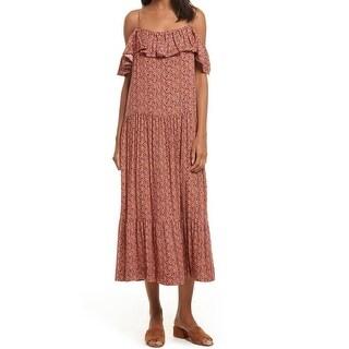 Rebecca Minkoff Melon Womens Cold-Shoulder Maxi Dress