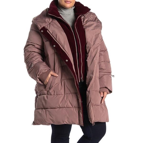 Noize Women's Jacket Purple Size 1X Plus Puffer Riley Full-Zipped. Opens flyout.