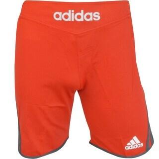 Adidas Transition Drawstring Elastic Waistband MMA Training Shorts - Red Poppy