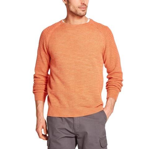 Weatherproof Vintage Mens Crew Neck Raglan Sleeve Knit Sweater X-Large Melon XL