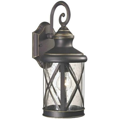 Boston Harbor LT-H04 Outdoor Wall Lantern, One Light, Oil Rubbed Bronze