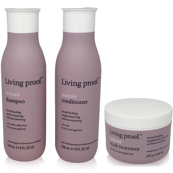 Living Proof Restore -3 Item Value Set - 1 Shampoo(8Oz)1 Conditioner (8Oz)1 Mask