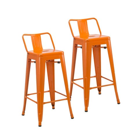 Porthos Home Alto Iron Low Back Counter Stools (Set of 2)