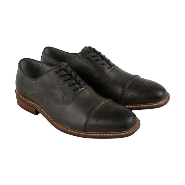 Kenneth Cole New York Stoan Oxford Mens Gray Casual Dress Oxfords Shoes