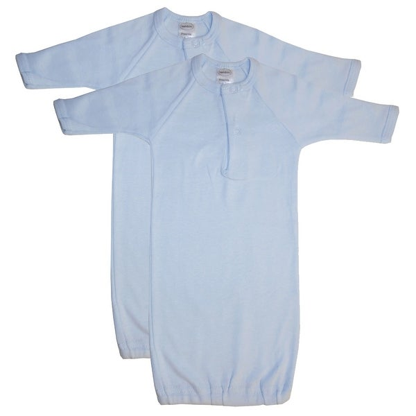 Bambini Preemie Solid Blue Gown - 2 Pack - Size - Preemie - Boy