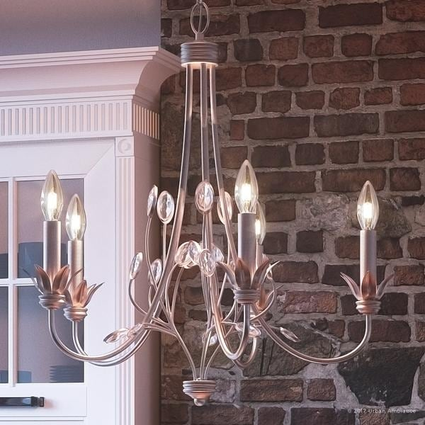 Luxury French Country Chandelier 27 H X 26 W With Art Nouveau