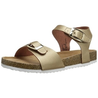 Jumping Jacks Girls Sand Castle Faux Leather Metallic Strap Sandals - 3 medium (b,m)