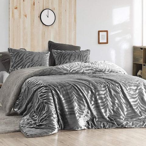 Primal Zebra - Coma Inducer Oversized Comforter - Silver Black