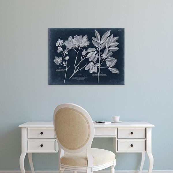 Easy Art Prints Vision Studio's 'Foliage on Navy VI' Premium Canvas Art