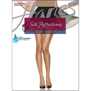 Hanes Silk Reflections Sheer Toe Pantyhose - Size - EF - Color - Barely There