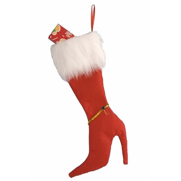 High Heel Christmas Stocking: Red