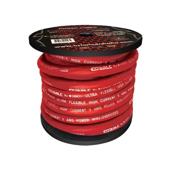 Cobalt Orion Wire 0 Gauge 50 FTS Red