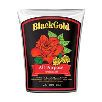 Black Gold 1410102 8.00 QT P All Purpose Potting Soil, 8 Quart