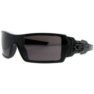 OAKLEY Shield OIL RIG Men's 03-460 Polished Black Warm Grey Sunglasses - 99mm-0mm-125mm