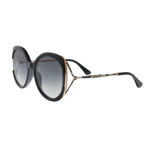 ca72780dd28d Jimmy Choo LILA S 807 Black Butterfly Sunglasses - No Size