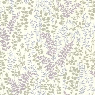 Brewster 347-20122 Dixon Purple Forest Leaves Wallpaper