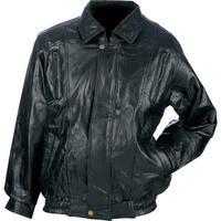 Maxam® Brand Italian Mosaic Design Genuine Top Grain Lambskin Leather Jacket -  3X