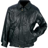 Maxam® Brand Italian Mosaic Design Genuine Top Grain Lambskin Leather Jacket -  Xl