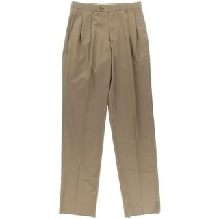 Linea Naturale Mens Double Pleat Solid Dress Pants - 32