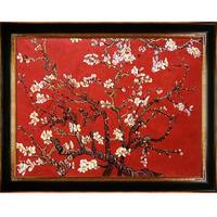 Vincent Van Gogh 'Branches of an Almond Tree in Blossom, Ruby Red' Hand Painted Oil Reproduction