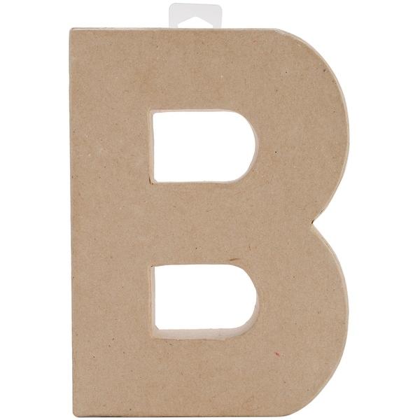 "Paper-Mache Letter 8""X5.5""-B"