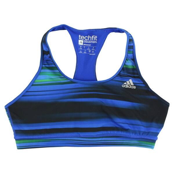 191fedd2 Adidas Womens Illuminated Energy TechFit Bra Bold Blue - bold blue/black - L