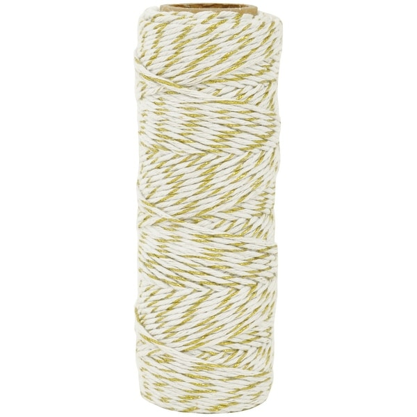 Lucky Dip Metallic Hemp Cord 1.0Mmx54m-Gold