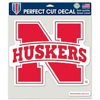 Nebraska Cornhuskers Decal 8x8 Die Cut Color