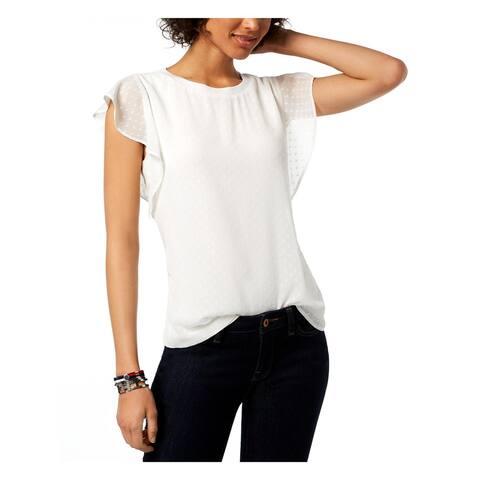 Tommy Hilfiger Womens T-Shirt Crew Neck Blouse
