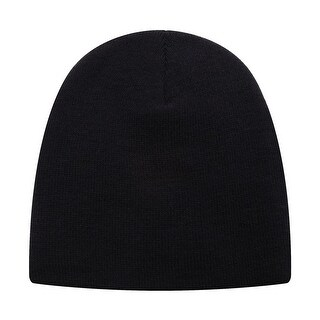 Richie House Boys Black Ink Solid Color Knit Unlined Cap