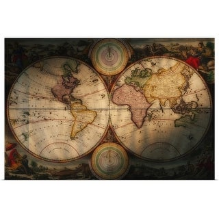 """Antique world map"" Poster Print"