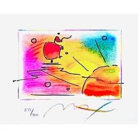 "Sunset Sail, Ltd Ed Lithograph (Mini 4.75"" x 5.75""), Peter Max"