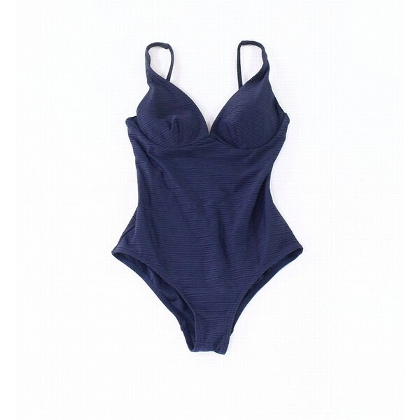 Jets by Jessika Allen Blue Womens Size 4 V-Back One-Piece Swimsuit