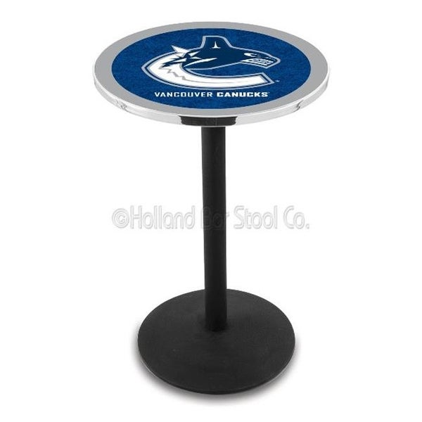 fcbf7baf5b0 Shop Holland Bar Stool 36 In. Black Wrinkle Vancouver Canucks Pub Table -  Free Shipping Today - Overstock.com - 22634242