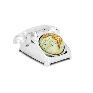 "9.25"" Platinum Gray and Mango Orange Decorative MaBell Telephone Globe"
