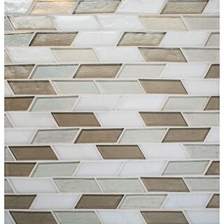 Daltile IL13OSCPMP Illuminary - Trapezoid Mosaic Wall Tile - Glass Visual - N/A