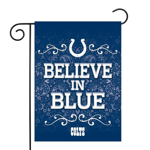 "18"" x 13"" Blue and White NFL Indianapolis Colts Outdoor Garden Flag - N/A"
