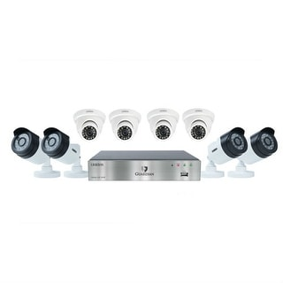 UNIDEN G7844D2 Wired DVR Security Camera System w/ 4 1080P Bullet Cameras, 4 1080P Dome Cameras and 2 TB HDD