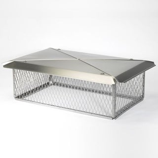 """Gelco 11714 13"""" x 24"""" 304 Stainless Steel Multi-Flue Chimney Protector Cap with"""