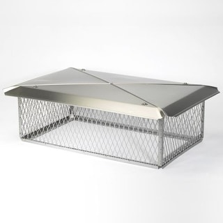 """Gelco 13231 17"""" x 29"""" 304 Stainless Steel Multi-Flue Chimney Protector Cap with"""
