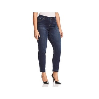 Vince Camuto Womens Plus Skinny Jeans Mid-Rise Dark Wash