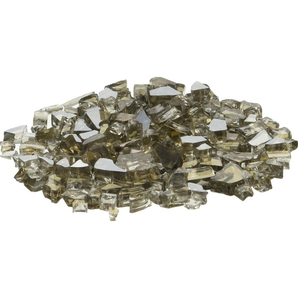 AZ Patio Heaters RFGLASS-2-BRZ Reflective Fire Pit Fire Glass in Bronze, 20lbs - bronze
