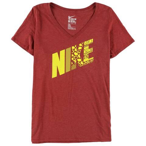 Nike Womens Athletic Cut Basic T-Shirt, red, X-Large