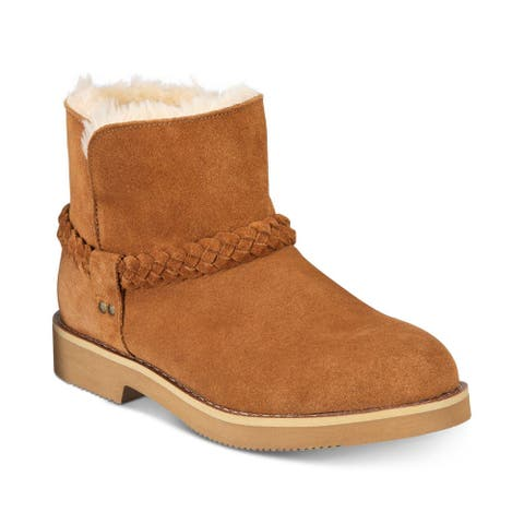 Style & Co. Womens KAII Suede Closed Toe Ankle Cold Weather Boots