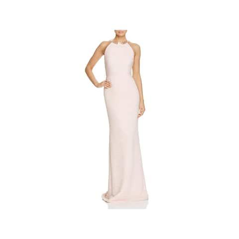 0de7e0f57c Carmen Marc Valvo Womens Evening Dress Ruched Beaded